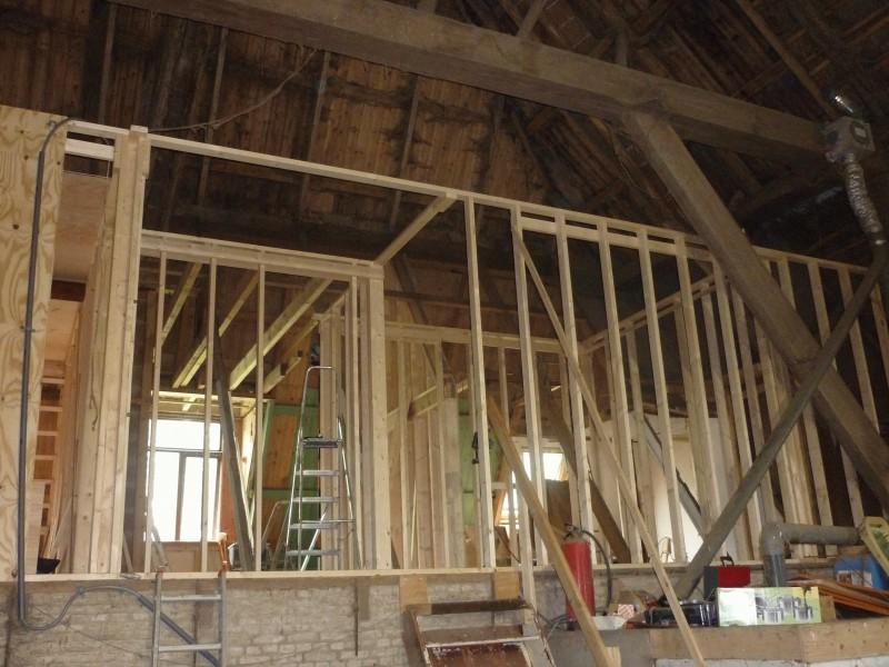 Verbouwing bovenverdieping slaapkamers en overloop for Houtskelet schuur